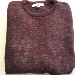 Halston H Cotton 44 in Flecked Crew neck Sweater